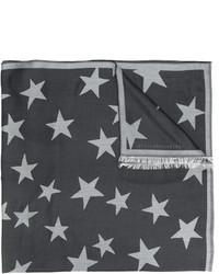 Bufanda de estrellas en gris oscuro de Stella McCartney