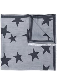 Bufanda de estrellas gris de Stella McCartney