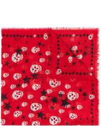 Bufanda de estrellas roja de Alexander McQueen