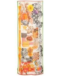 Bufanda de Flores Naranja de Etro