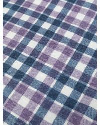 Bufanda de lana a cuadros azul marino de Eleventy