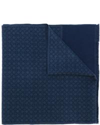 Bufanda de lana azul marino de Salvatore Ferragamo