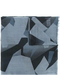 Bufanda de lana con estampado geométrico celeste de Closed