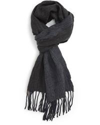 Bufanda de lana de espiguilla azul marino de John Varvatos