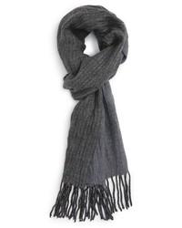 Bufanda de lana de espiguilla negra de John Varvatos