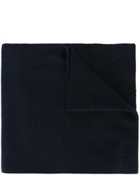Bufanda de lana de punto azul marino de Dolce & Gabbana