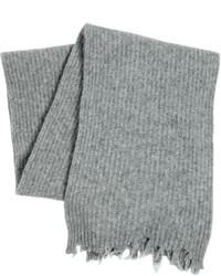 Bufanda de lana de punto gris de MSGM