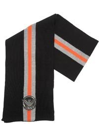 Bufanda de lana de punto negra de Armani Junior