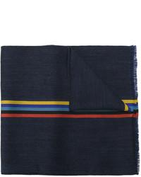 Bufanda de lana de rayas horizontales azul marino de Paul Smith