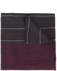Bufanda de lana de rayas horizontales morado oscuro de Paul Smith