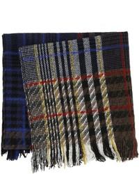 Bufanda de lana de tartán negra de Faith Connexion