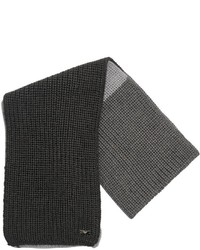 Bufanda de lana en gris oscuro de Armani Junior
