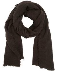 Bufanda de lana en marrón oscuro de Faliero Sarti