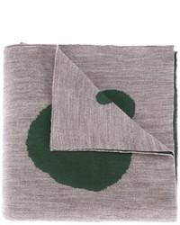 Bufanda de lana estampada gris de Kolor