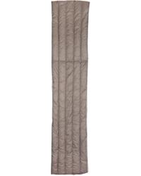 Bufanda de lana gris de Nanamica