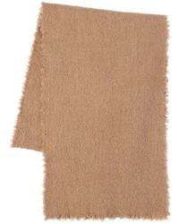 Bufanda de lana marrón claro de Faliero Sarti