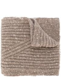 Bufanda de lana marrón claro de Pringle