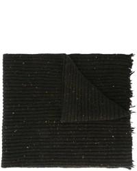 Bufanda de lana negra de Damir Doma