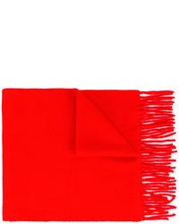 Bufanda de lana roja de AMI Alexandre Mattiussi