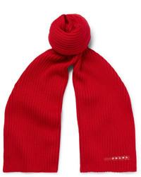 Bufanda de lana roja de Prada