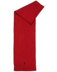 Bufanda de lana roja de Ralph Lauren
