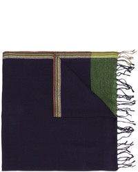 Bufanda de lana tejida azul marino de Paul Smith