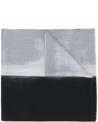 Bufanda de lana tejida gris de Jil Sander