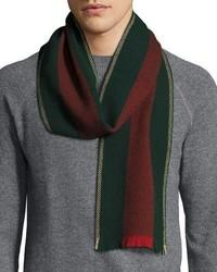 Bufanda de lana verde oscuro de Gucci
