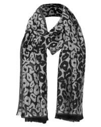 Bufanda de leopardo gris de Topshop