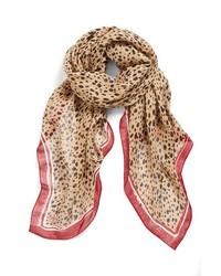 Bufanda de leopardo marrón claro de Tory Burch