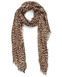 Bufanda de Leopardo Marrón de Sole Society