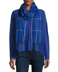 Bufanda de lino azul marino de Eileen Fisher
