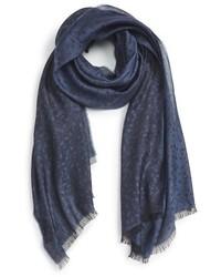 Bufanda de lino azul marino de Lanvin
