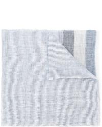 Bufanda de lino de rayas verticales celeste de Fay