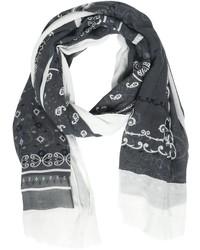 Bufanda de lino estampada en gris oscuro de Destin Surl