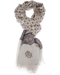 Bufanda de paisley gris de Dolce & Gabbana