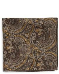 Bufanda de paisley marrón