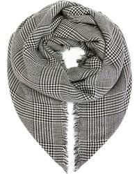 Bufanda de pata de gallo en blanco y negro de Faliero Sarti
