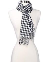 Bufanda de pata de gallo en negro y blanco