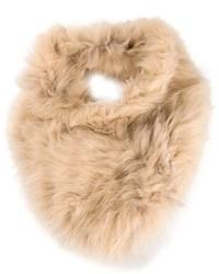 Bufanda de pelo en beige