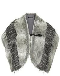 Bufanda de pelo gris