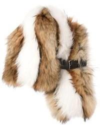 Bufanda de pelo marrón de Fendi