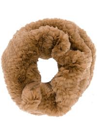 Bufanda de pelo marrón de Yves Salomon