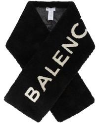 Bufanda de pelo negra de Balenciaga