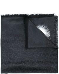 Bufanda de pelo negra de Fendi