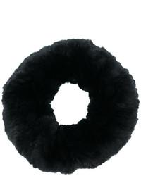 Bufanda de pelo negra de Yves Salomon