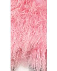 Bufanda de pelo rosa