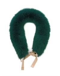 Bufanda de pelo verde oscuro