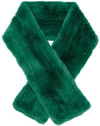 Bufanda de pelo verde de Yves Salomon