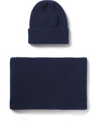 Bufanda de punto azul marino